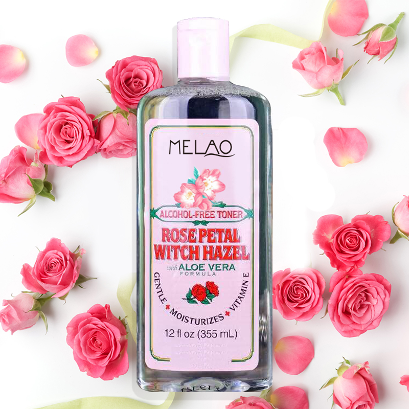 MELAO Bulk Alcohol-free Rose Petal Witch Hazel Face Toner with Aloe Vera for Oily Skin Wholesale
