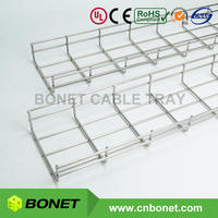Medium Frequency Welded SS304 SS316 Stainless Steel Wire Mesh Cable Tray with UL Certified