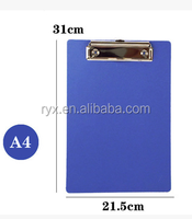 wholesale a4 size solid color pp plastic clipboard for office/school supplies