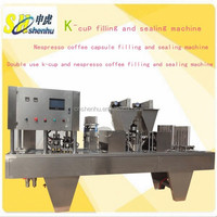 New Product! K-cup and Nespresso Coffee Filling and Sealing Machine 2 in 1