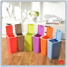 creative home kitchen bathroom press dust waste litter garbage storage box trash can rubbish bin