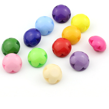 // Factory price colorful semi ball plastic buttons // flower shaped magnetic button for shoes/clothes // BK-BUT581