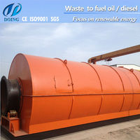 10T pollution-free high oil-yield waste tires/plastic pyrolysis machine to turn tyre to diesel oil