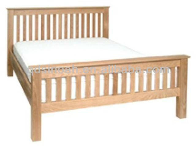 Houten bed frame massief eiken bed eiken meubelen houten bed frame ontwerp bedden product id - Massief houten platform bed ...