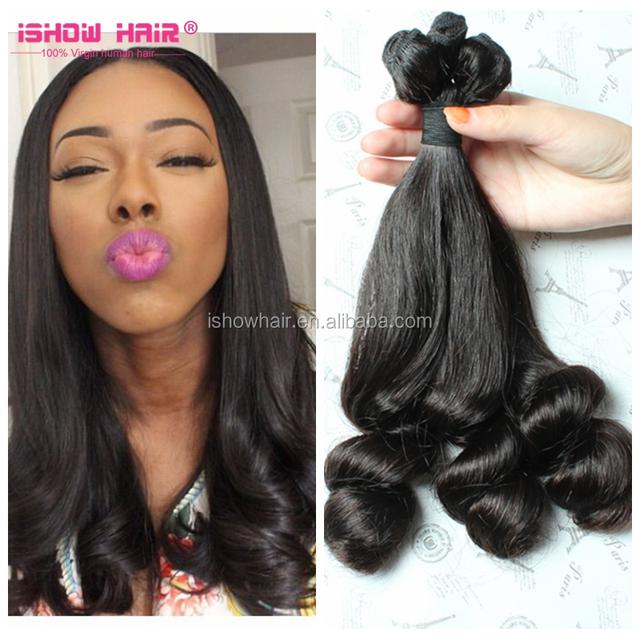 Hot Sale In Nigeria/UK Funmi Hair Double Drawn Mongolian Aunty Funmi Hair Bouncy Curls