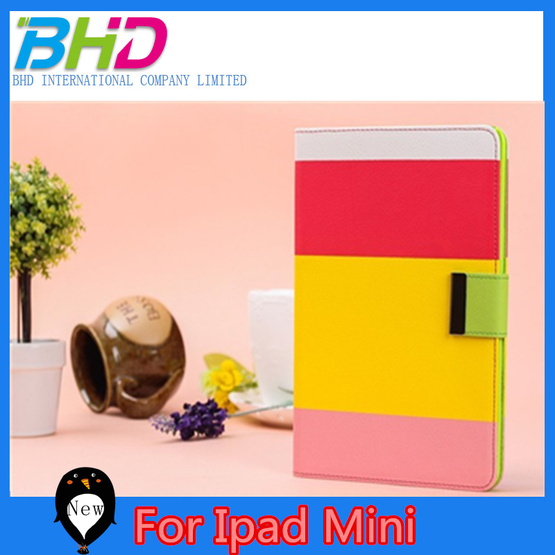 Folder Book Style Folio Case Cover For Ipad Mini, For Ipad Mini Leather Case