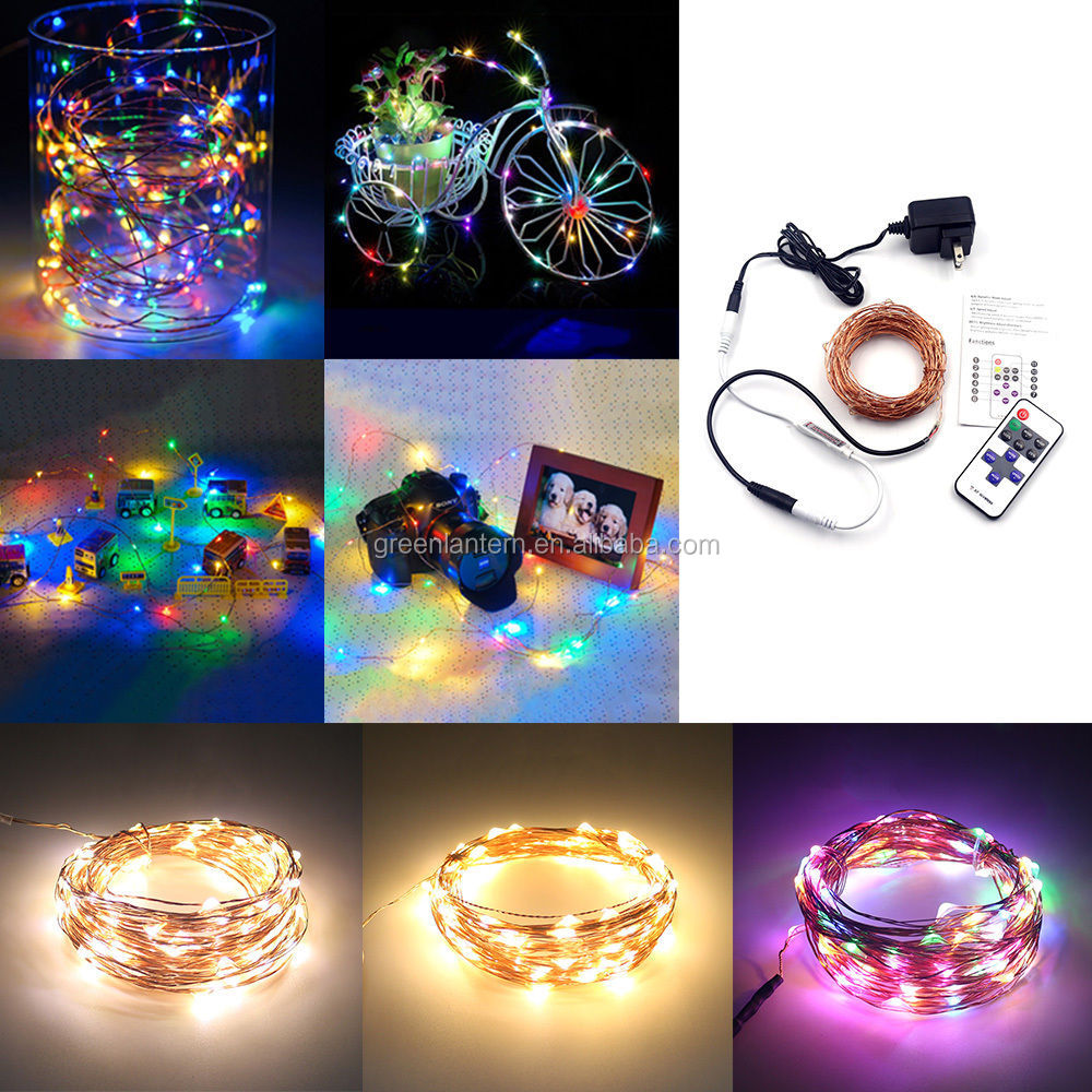 starry 2M 5M 10M 50M 100M 200M copper wire ultra thin led fairy led string lights