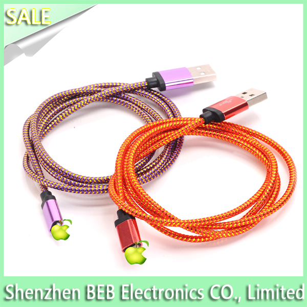 Factory price micro usb cable data sync cable for iphone 6 cable charger 1meter long