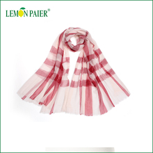 2016 Autumn Women White&Red Plaid Dubai Muslim Scarf