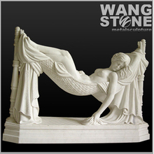 Natural Marble Life Size Lying Nude Woman Statue