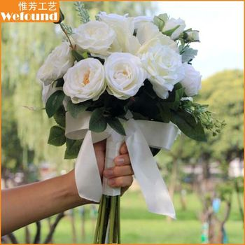 Wefound bb101 artificial decoration white silk flowers wholesale wefound bb101 artificial decoration white silk flowers wholesale wedding bridal bouquets mightylinksfo