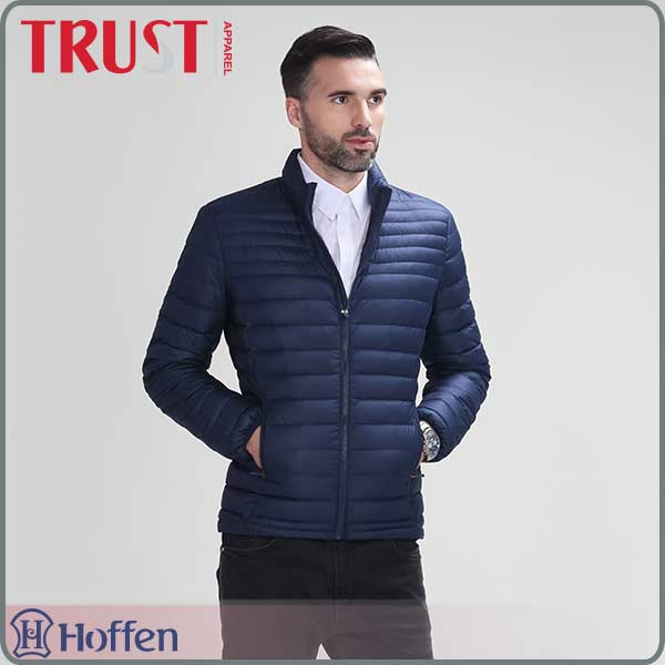 wholesale 90%down 10%feather <strong>navy</strong> mens down puffer jacket