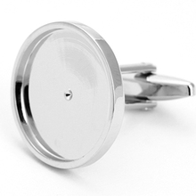 High Quality Manufacture OEM Sliver Coin Cufflink Blanks
