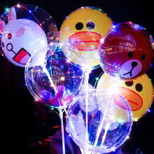 2019 new year party decoration inflatable light up bobo balloon lights flashing LED helium balloons