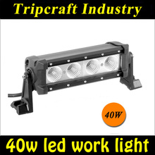 one row 40w cre e off road 40w led working light bar for heavy duty transport vehicle