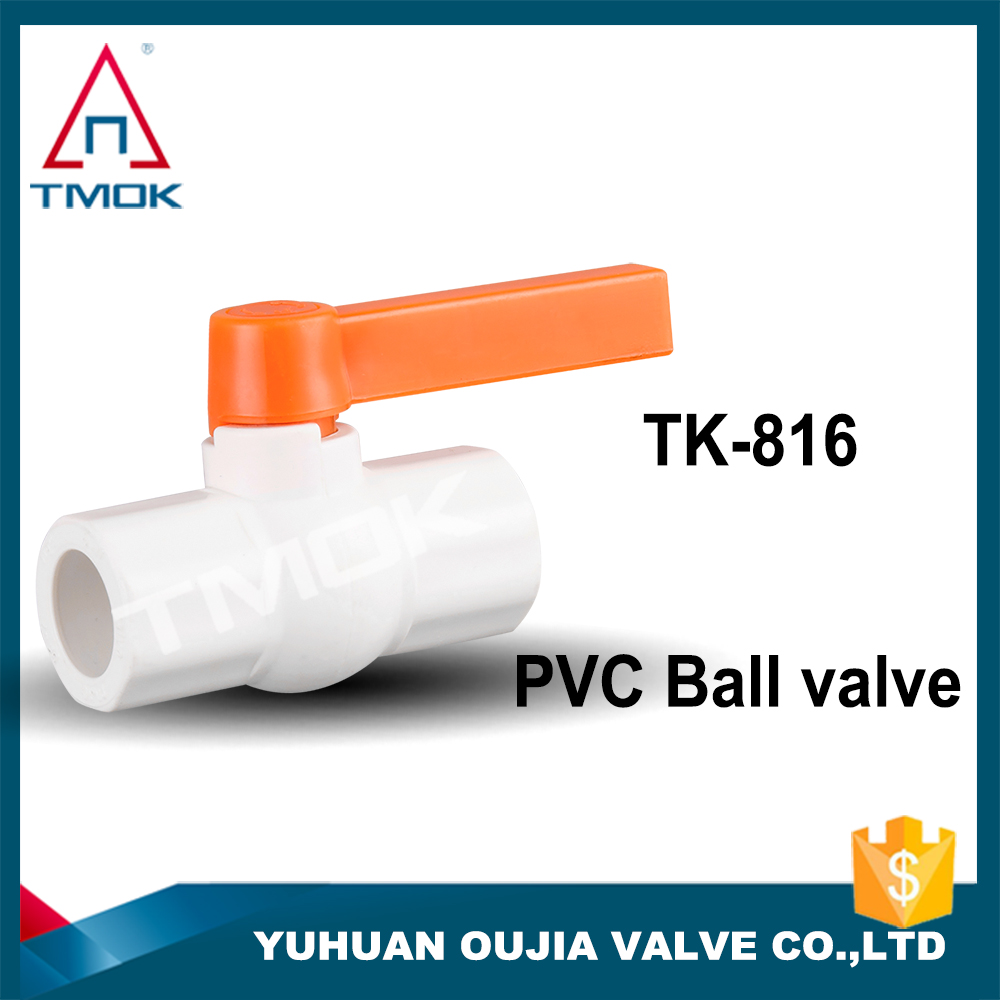 TMOK CE approved ppr ball valve Plastic fittings orange handle ball valve for water from China manufacture