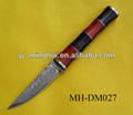 Imitated damascus steel hunting knife