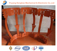 Oil and water semi rigid welded bow spring centralizer