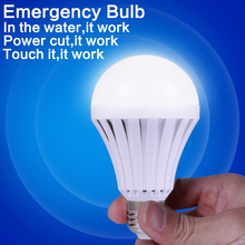 165-265V 7W Rechargeable Light Bulb Led Emergency Lamp E27 LED Smart Light With Battery Emergency Intelligent Bulb