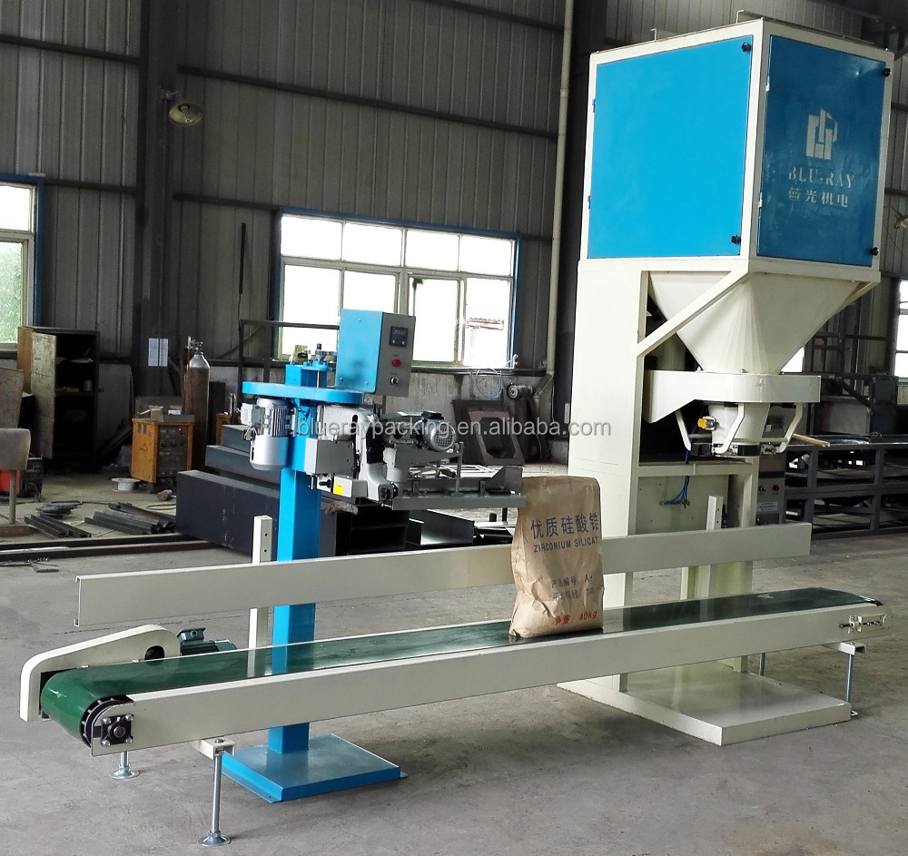 Manual bag placing automatic filling weighing wood pellet packing machine