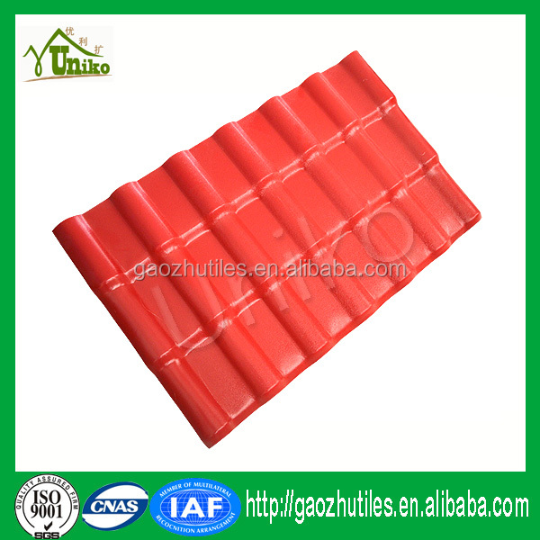Korean Japanese Chinese roofing tiles rigid synthetic resin plastic sheet