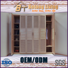 New design bedroom wardrobe louvered door designs