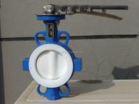 PTFE SEAT wafer/double flanged/Lug butterfly valve