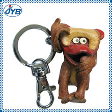 plush cute animal monkey keychain toy