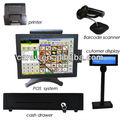 15 inch dual core all in one tactile POS cash register