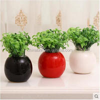 8*9cm small ceramic wall vase for desk decoration