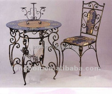 top-selling modern dressing wrought iron dining table and chair