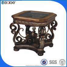 E-1600 antique hand carved Chinese wooden end table for decorative