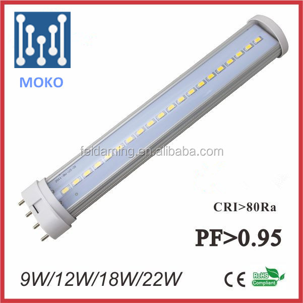 18w 4 pin led lamp 2835 smd 2g11 led tube fpl replacement for home