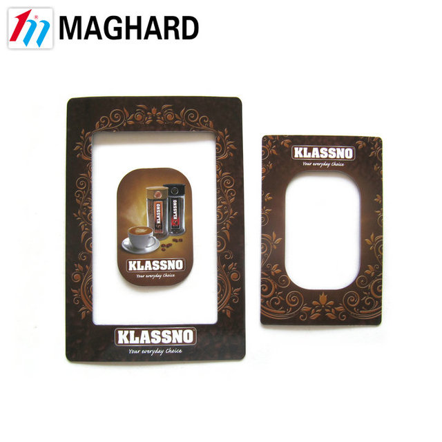 Customized Coffee fridge magnet paper magnetic photo frames for promotional gift