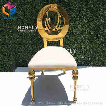 hollow out royal back new design hotel hall party banquet wedding good design stainless steel chair