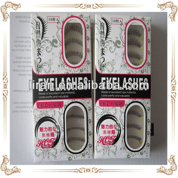 Private label service provided fancy eyelash box packaging