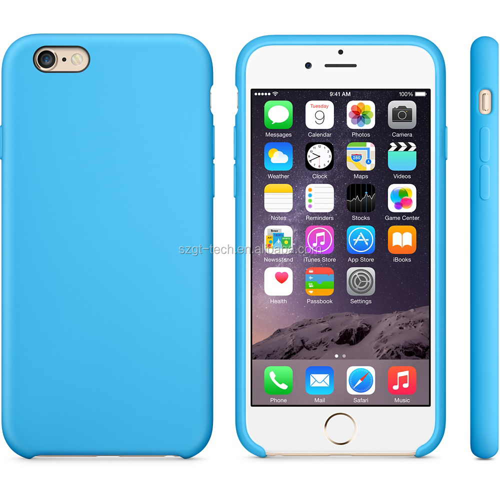 For apple original Silicone case, soft silicone case for iPhone 7 apple accessories