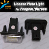 Hot Selling Led license plate light for CITROEN C3 C4 C5 PICASSO Peugeot 206 207 306 307 308 9-16V car rear license plate lamp
