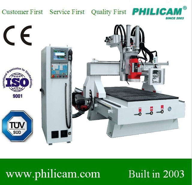 cnc router spindle HSD 9KW atc with 8pcs tools/wood angle cutting machine