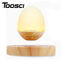 Free Shipping Magnetic Levitating Wooden Egg Shape Night Light Bluetooth Speaker With LED Lamp