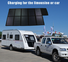 Hot selling 300W Sunpower folding solar charger for battery on boat/yacht/car for travel/camping