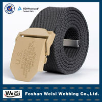 Sublimated Camel Ribbon Belts With Mental Buckle Making Supplies