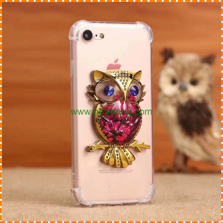 Owl design wholesale 3d silicone cover phone case for iphone 7 7 plus shockproof phone case