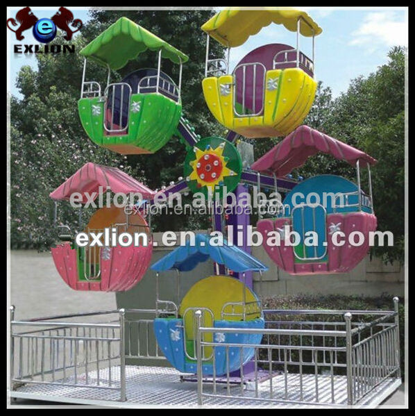 Attractive and excitting game mini ferris wheel roller coaster supplier