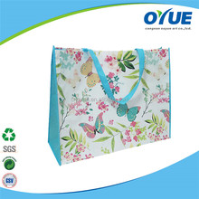 Promotional waterproof personalised custom recyclable foldable non woven laminated bag