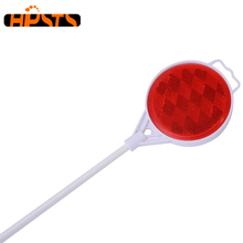 Fiberglass post high visibility PMMA material round mirror reflective driveway markers