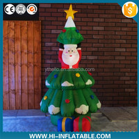Best-sale mini christmas decoration santa tree inflatable for sale