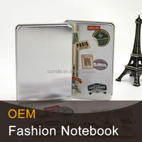 Hot sale metal cover spiral notebook