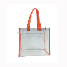 promotion transparent clear shopping pvc bag with custom print