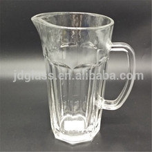 1.2 L Carved Juice and Water Jug Table Glassware /Promotion glass pitcher without lid /water & juice glass pitcher